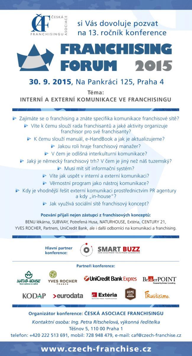 FRANŠÍZA AKCE - franchising forum 2015