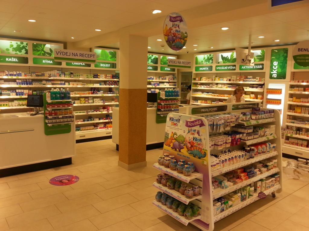 lékárny BENU - vlastní ifranšízové lékárny vČR