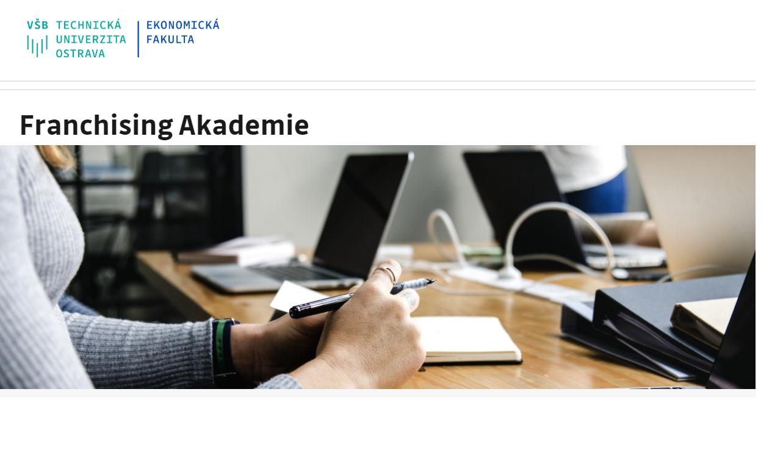 franchising akademie pro veřejnost